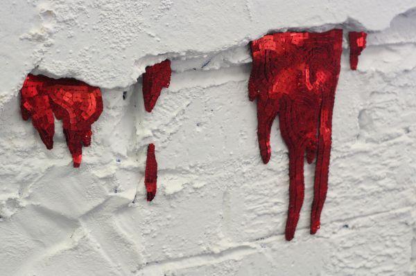 Dribbling blood