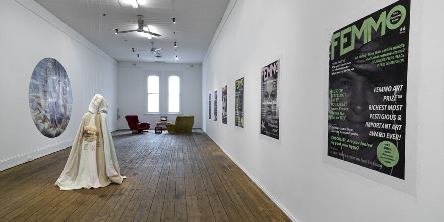 Installation Vote For Me a group show including works by textile artist Sera Waters, Format Gallery, Adelaide.