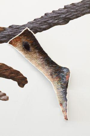 Falling: Line by Line (detail-broken limb)