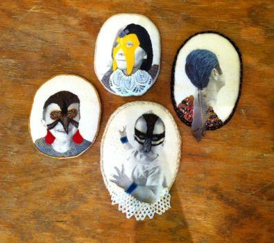 Nesting: Self as Plover, Pigeon hair, Waddler & Red cheeks
